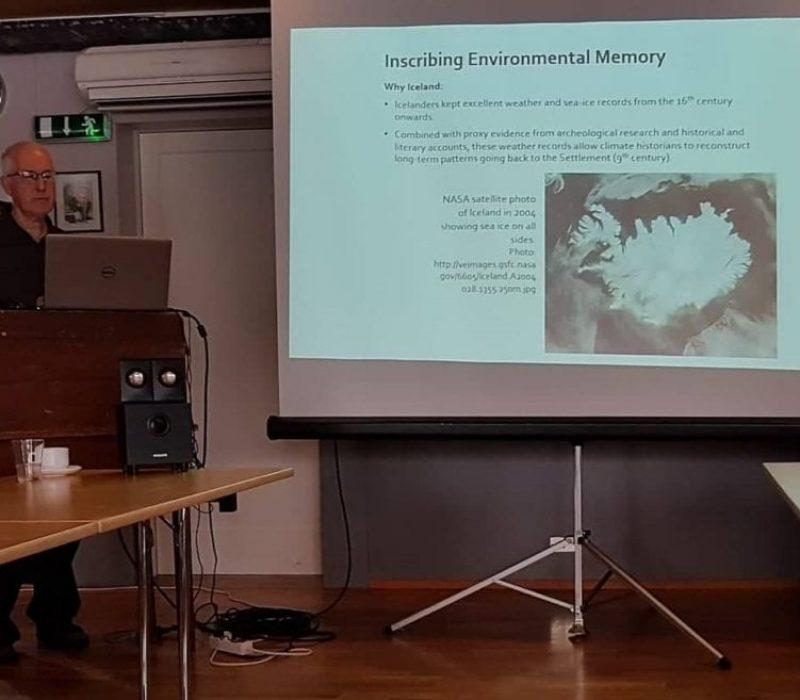 Michael Twomey lecturing in 2018. Photo by Ragnhildur Sigurðardóttir