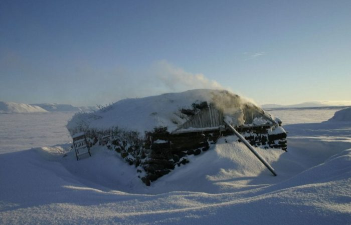 Turf shed in Svartárkot for smoking trout and mutton. Photo by Magnús Skarphéðinsson
